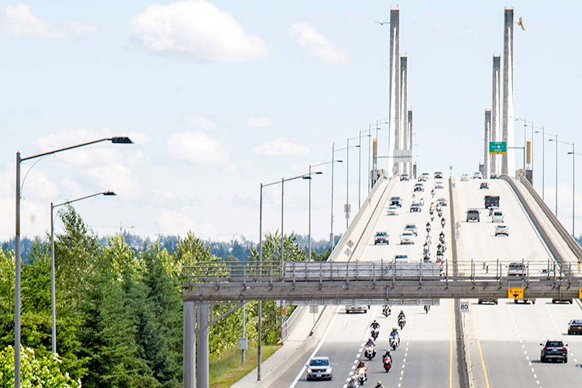 Golden Ears Bridge on Sunday, June 7, 2020. (Devon Lutz/Langley Advance Times)