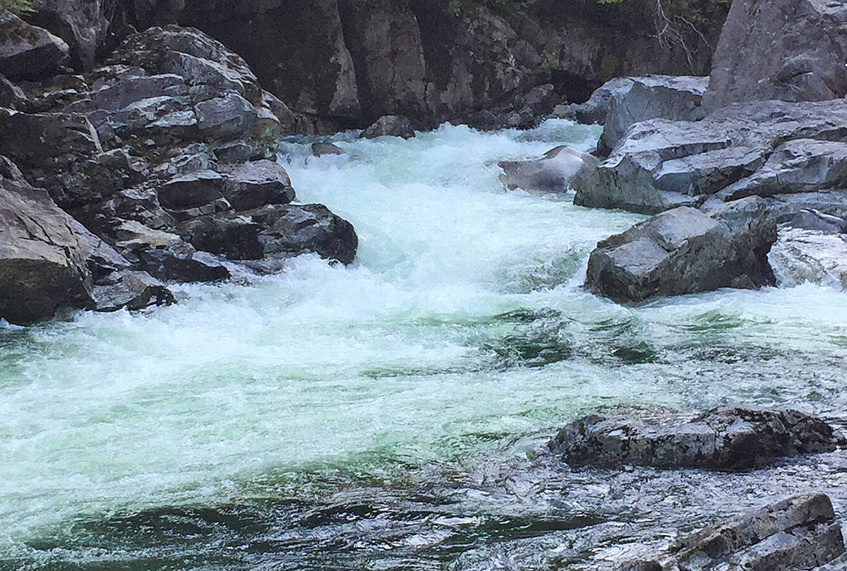 A person has been killed after being swept over Widgeon Falls. (Special to The News)