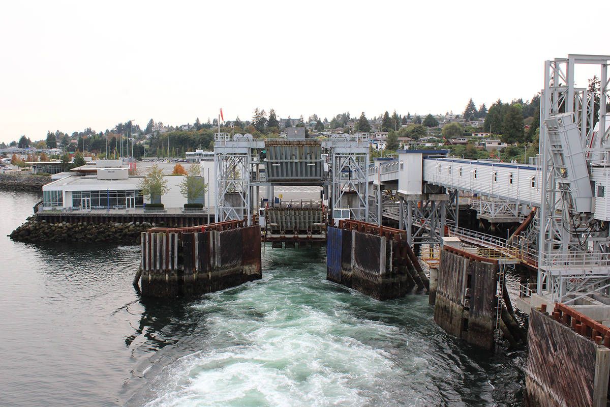 B.C. Ferries says online booking for foot passengers is now available for certain routes, including from Departure Bay ferry terminal in Nanaimo. (News Bulletin file)