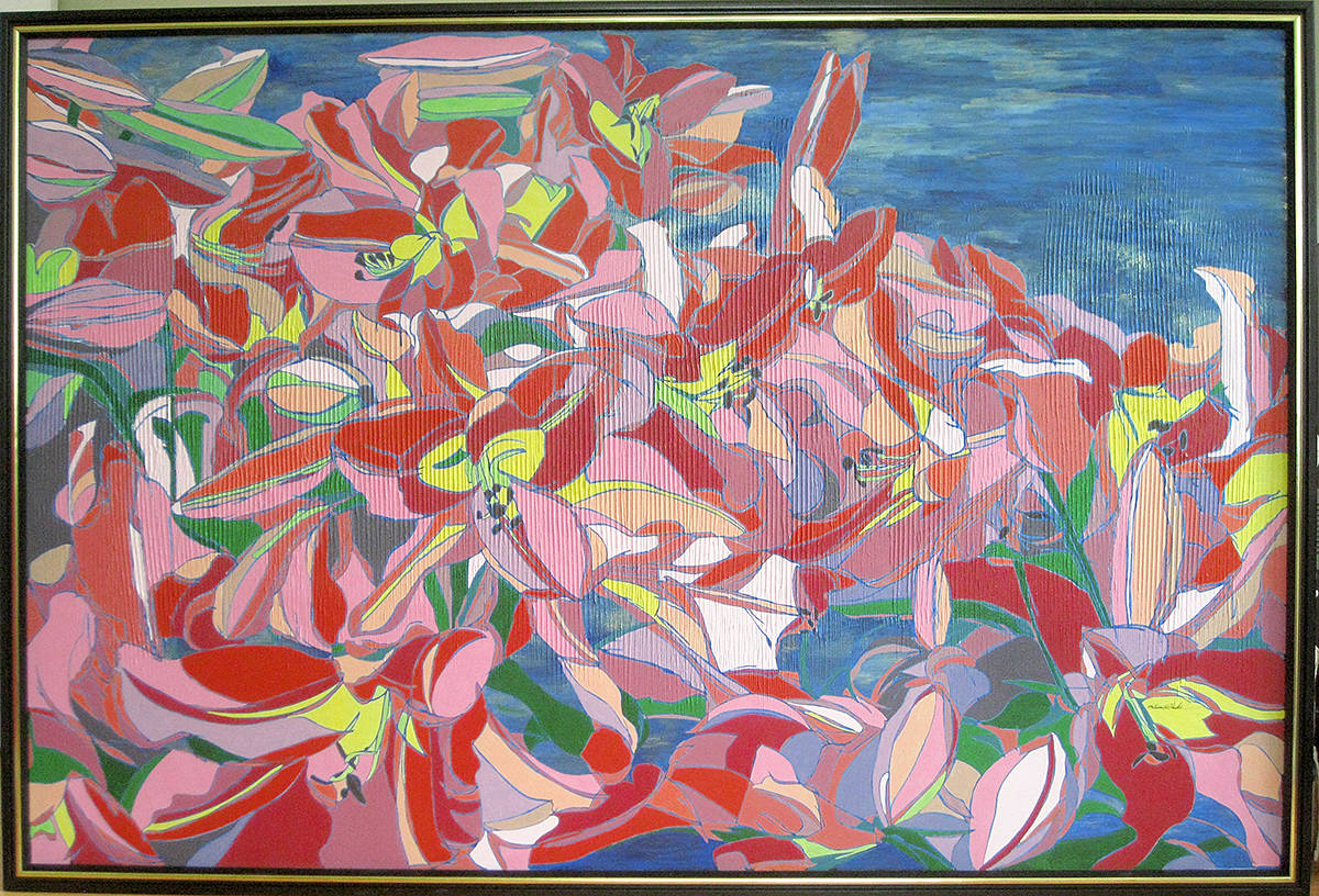 Lily Garden, a Melissa Clark painting. (Special to Langley Advance Times)