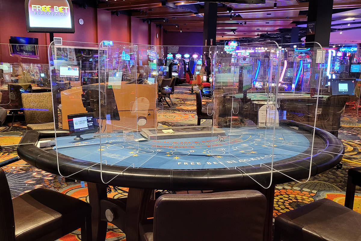 Cascades Casino in Langley City has taken steps to prepare for reopening. (Tanya Gabara/Special to Langley Advance Times)