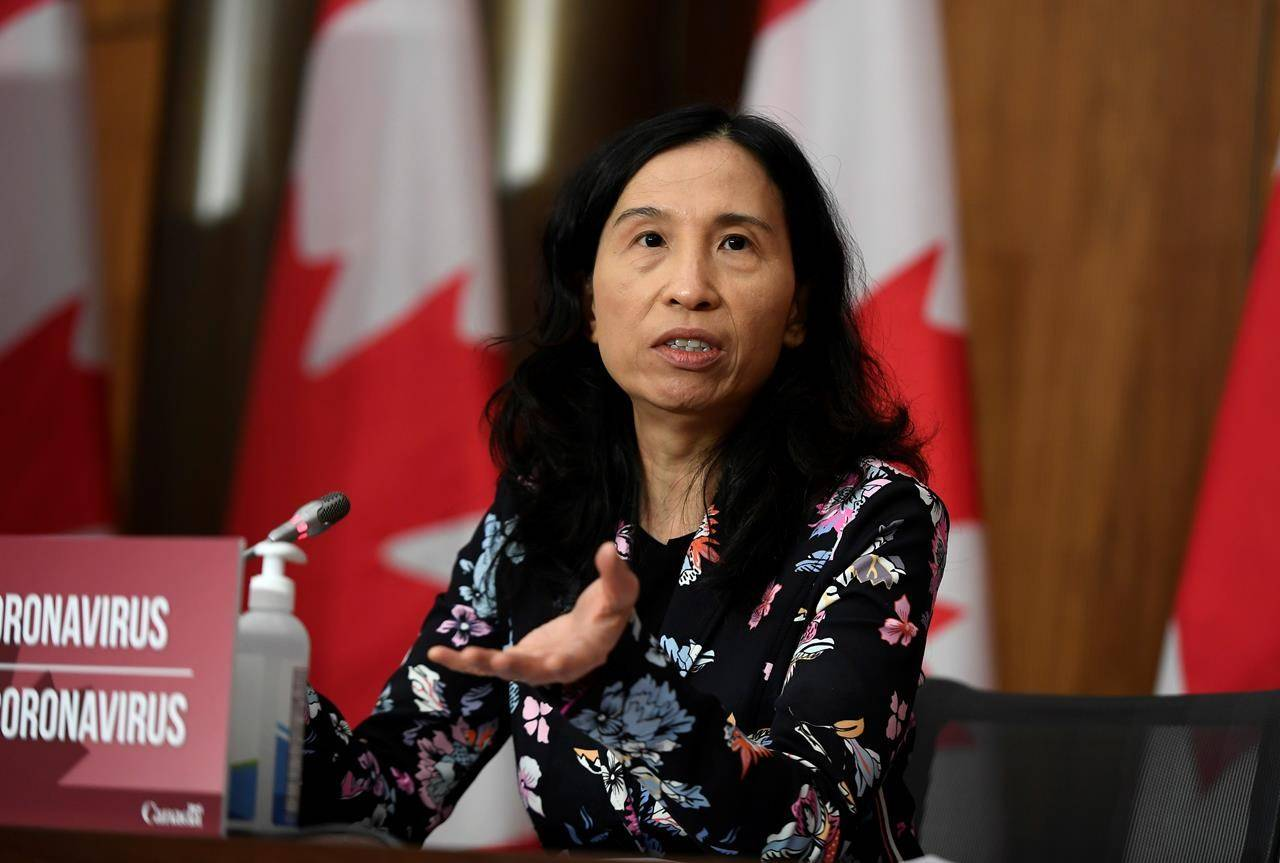 Chief Public Health Officer of Canada Dr. Theresa Tam speaks during a news conference on the COVID-19 pandemic in Ottawa on Tuesday, Dec. 22, 2020. Do you know where she received her medical training? (THE CANADIAN PRESS/Justin Tang)