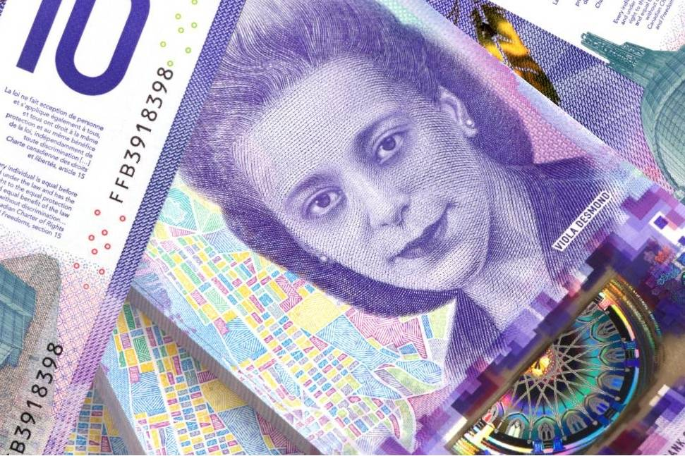 In 2018, Viola Desmond was celebrated on the Canadian $10 bill. Do you know why she is featured on this bill? (Government of Canada photo)