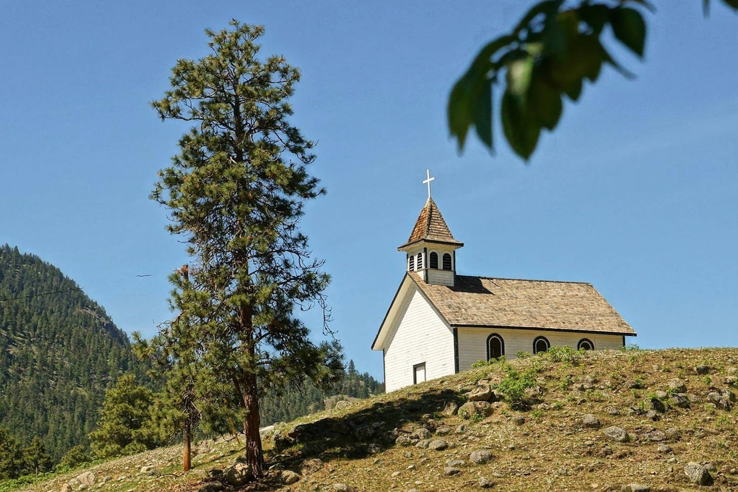 St. Anne's Catholic Church at Chuchuwayha outside of Hedley (seen here) burned to the ground along with Lady of Lourdes Chopaka Church near Keremeos at the same time June 26. Both were on Indian Band Land. (John Moody photo)