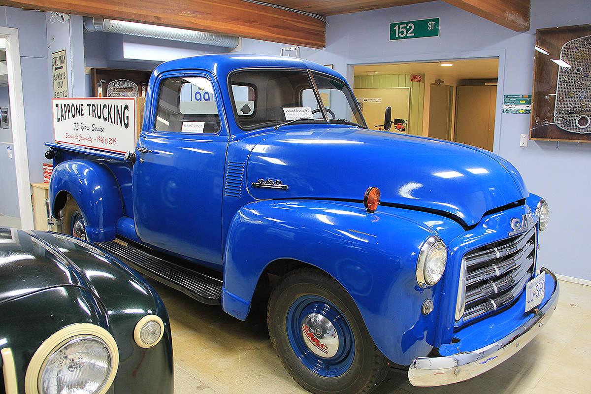 "A ""Zappone Trucking"" vehicle is seen at the B.C. Vintage Truck Museum. Longtime museum volunteer Bruno Zappone donated the truck to the museum. (Photo: Malin Jordan)"