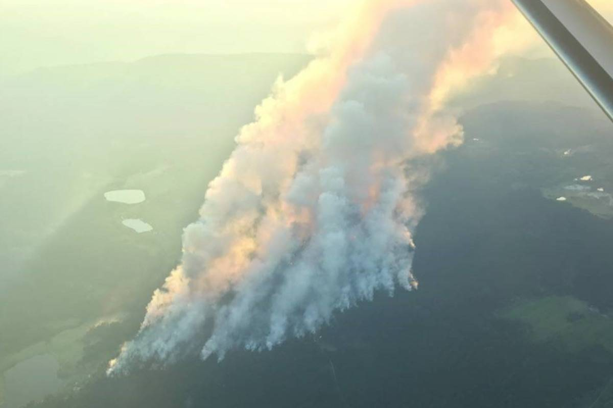 Sparks Lake wildfire. (BC Wildfire/ Twitter)