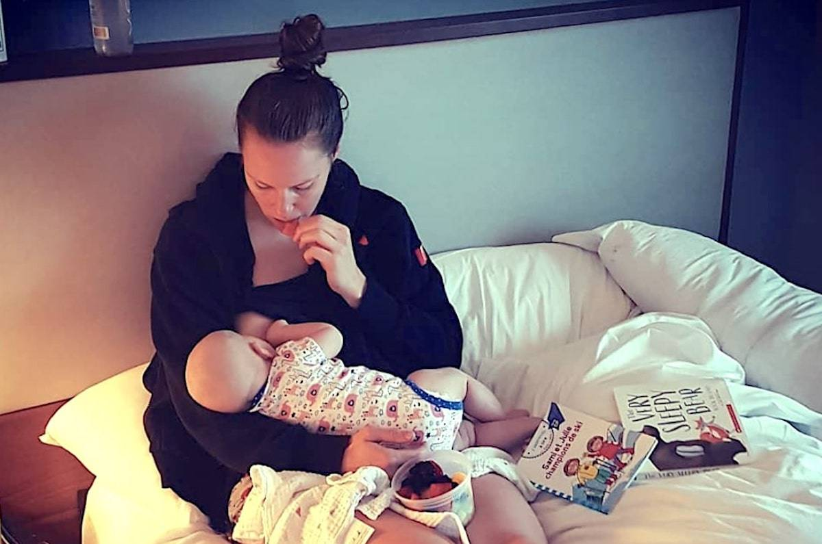 The athlete said the IOC was forcing her to make a tough choice: skip the Olympics, or spend 28 days in Tokyo without her daughter, who she is still breastfeeding. (Instagram/Kim Gaucher)