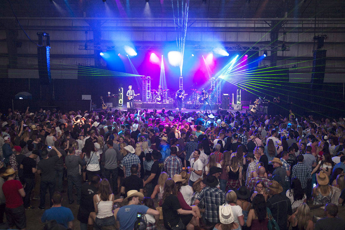 The Longhorn saloon filled to capacity at the 2017 Cloverdale Rodeo & Country Fair. (submitted photo)