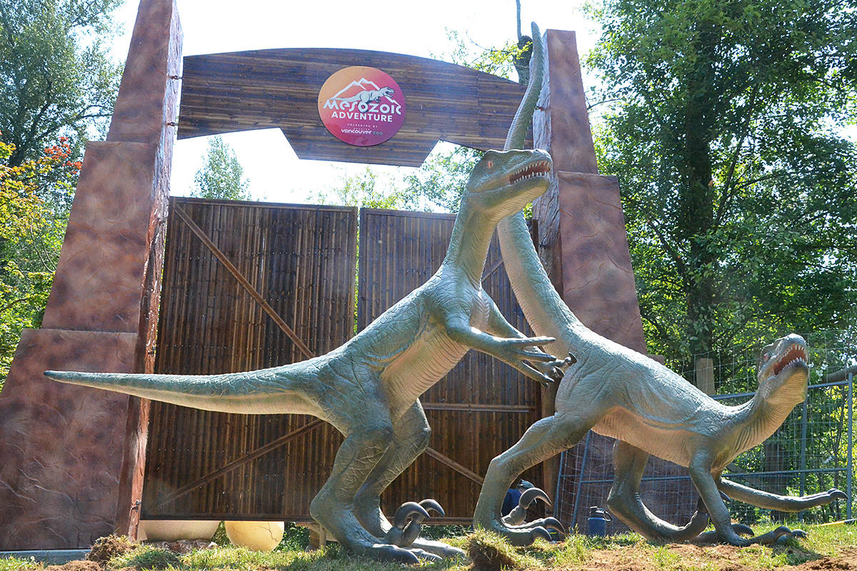 The entrance to Mesozoic Adventure at the Greater Vancouver Zoo. (Matthew Claxton/Black Press Media)
