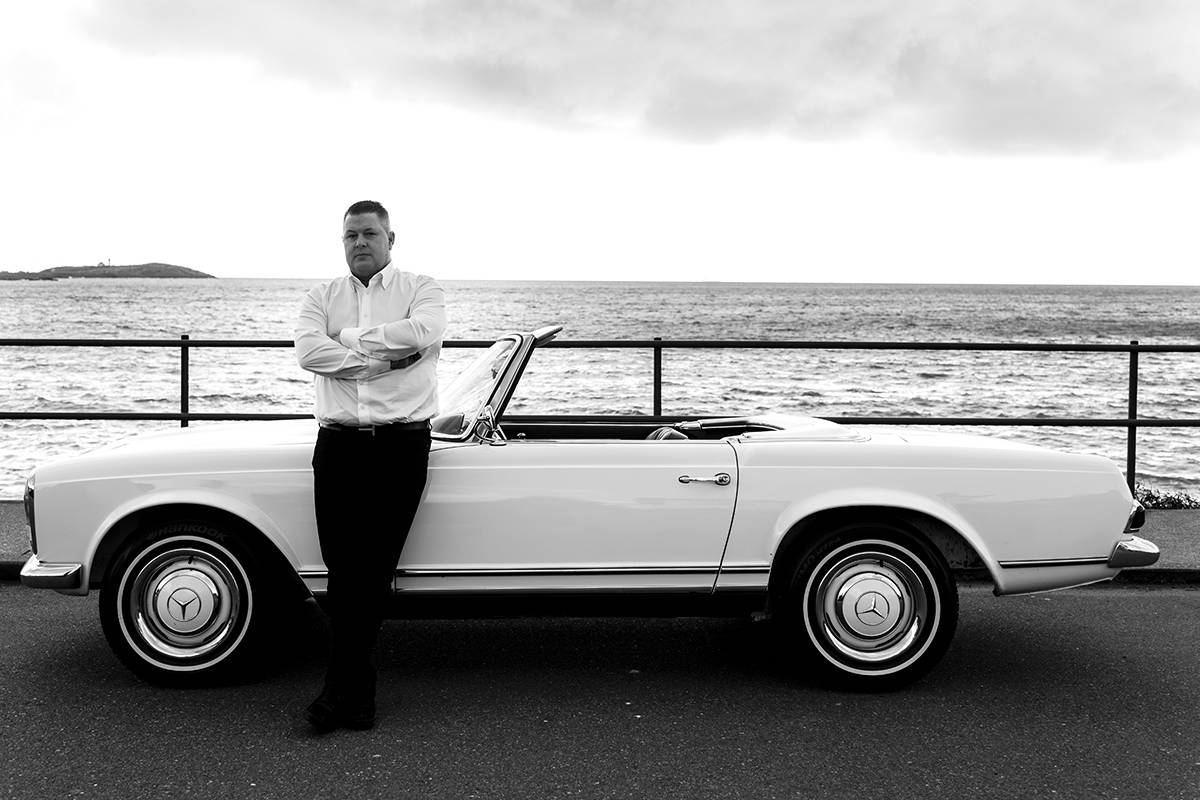 Tim Quocksister of Silver Arrow Cars.  Photograph by Lia Crowe