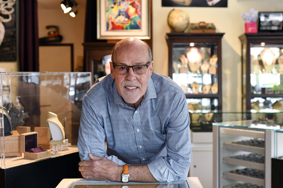 Brad Leith at Impeccable Jewellery in Duncan. Don Denton photograph