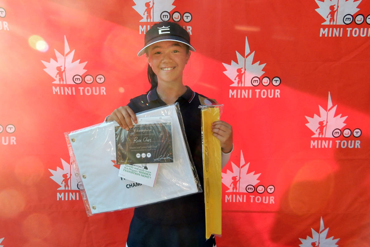 Langley's Rose Chen, 12, won her division at the MJT Mini Tour at Cultus Lake Golf Club on Sunday, June 27. (Special to Langley Advance Times)
