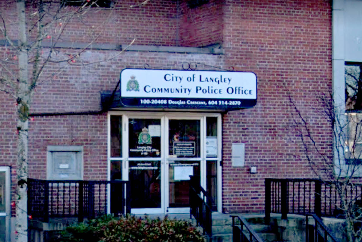 City of Langley Community Police Office we re-open on July 7, 2021 after being closed mid-March 2020, a result of the pandemic. (undated Google photo)