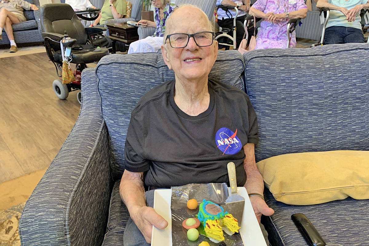 Normally, Langley's John Kromhoff doesn't do sweets, but for his 100h birthday on June 24, he made an exception. (Special to Langley Advance Times)