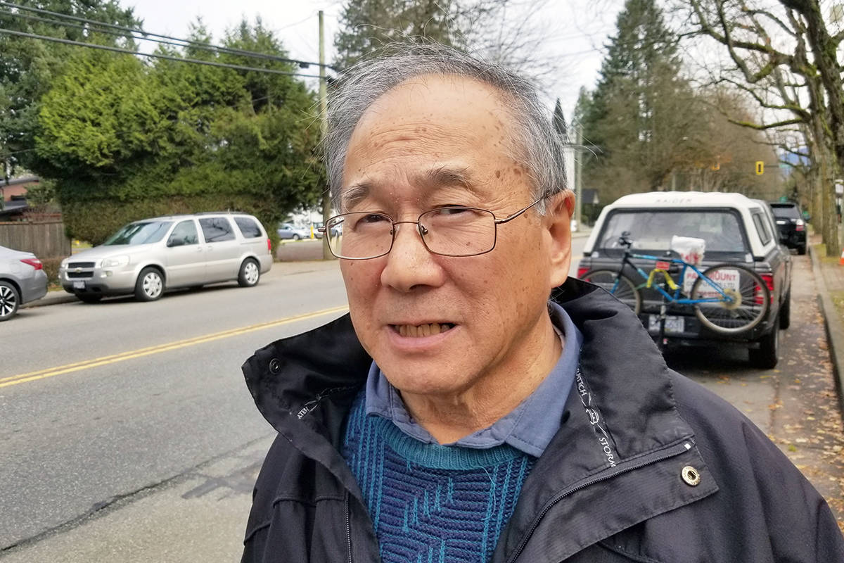 Gary Hee, seen here in Fort Langley during a 2019 campaign against hospital parking fees, hopes to raise funds to provide snacks for residential school survivors. (Langley Advance Times file)
