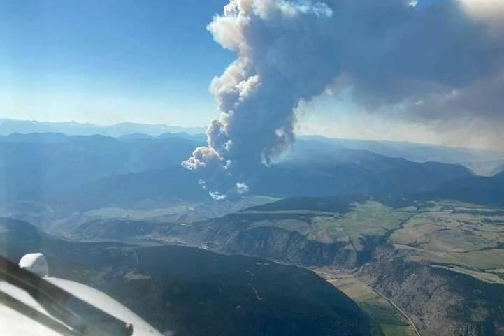 Aerial view of Mckay Creek wildfire taken on June 29, 2021. (BC Wildfire Service handout)