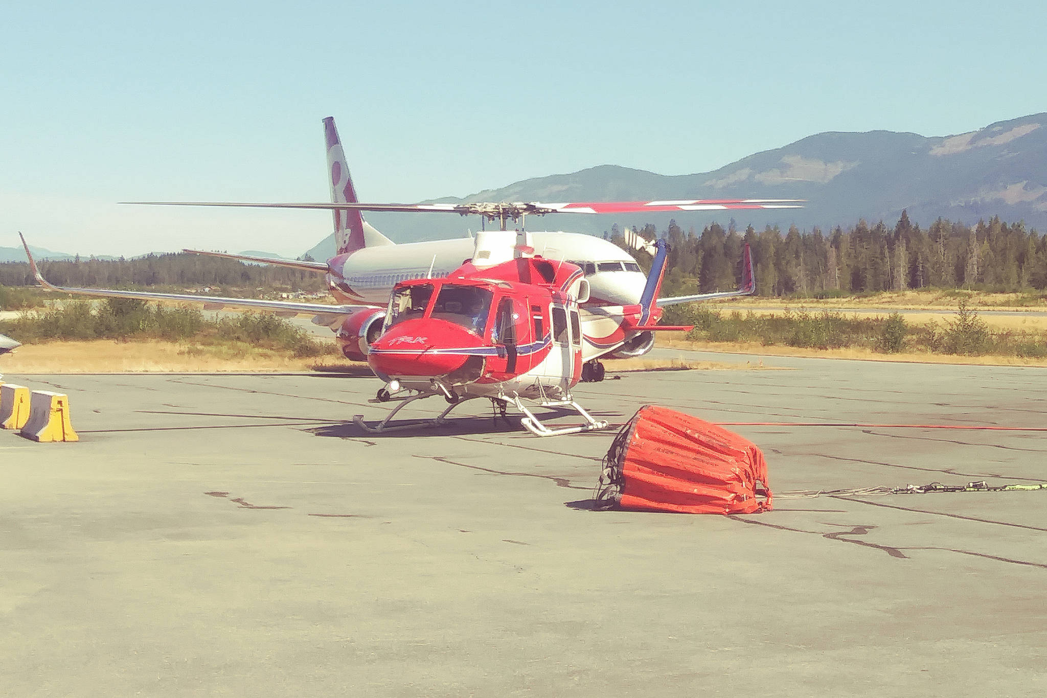 BC Wildfire crews are assessing two potential fires in the South Cariboo by helicopter. TONY SHUMUK PHOTO