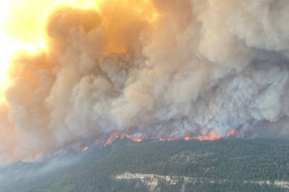 The Sparks Lake wildfire on June 30, 2021. (BC Wildfire Service photo)