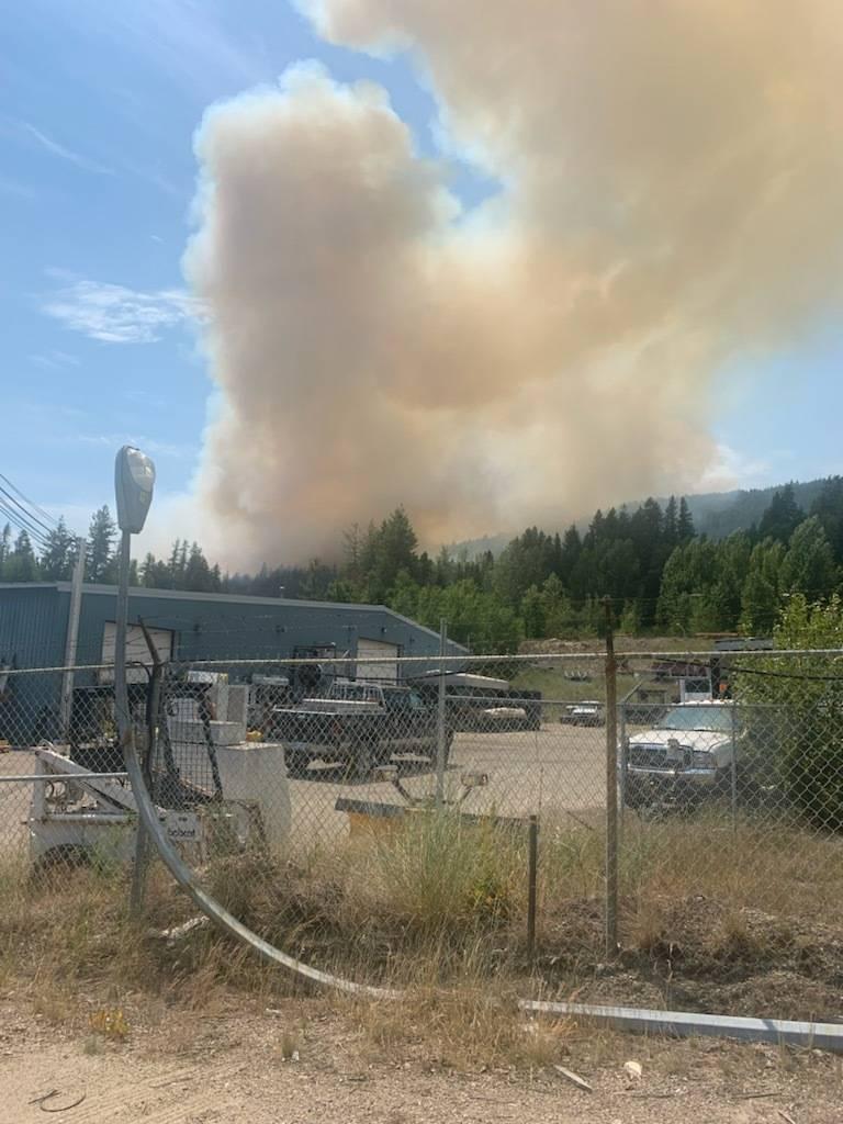 A fire is burning in Castlegar