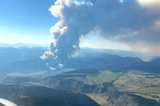 McKay Creek fire has grown to 5,000 ha. (BC Wildfire Service photo)