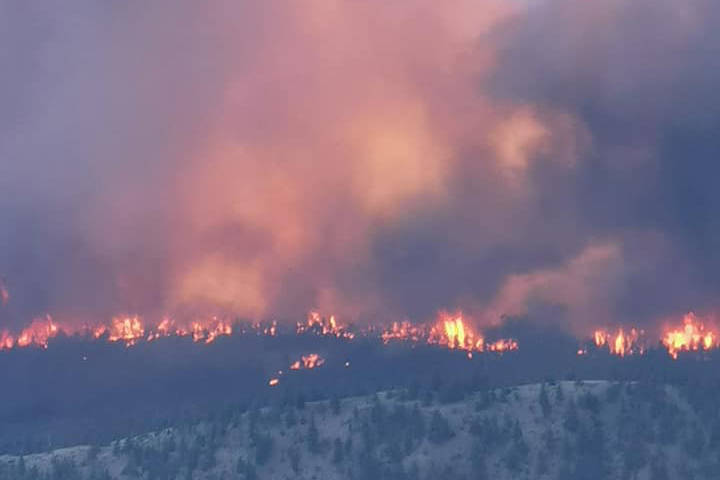 The McKay Creek fire near Pavilion has grown to 7,000 ha. (Ejah Nyman photo - submitted)