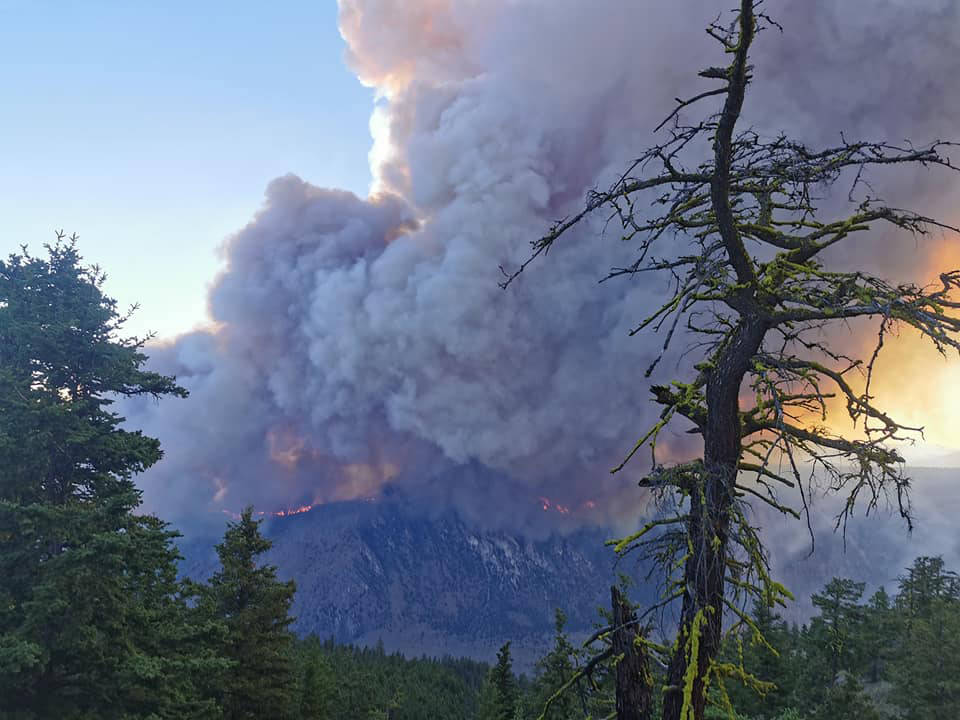 The McKay Creek fire near Pavilion has grown to 5,000 ha. (Ejah Nyman photo - submitted)