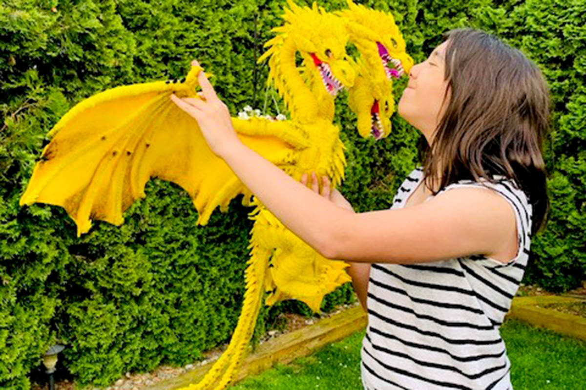 Kerington Franklin, a 12-year-old student at Betty Gilbert Middle School, made a three-headed dragon out of pipe-cleaners. (Special to The Star)