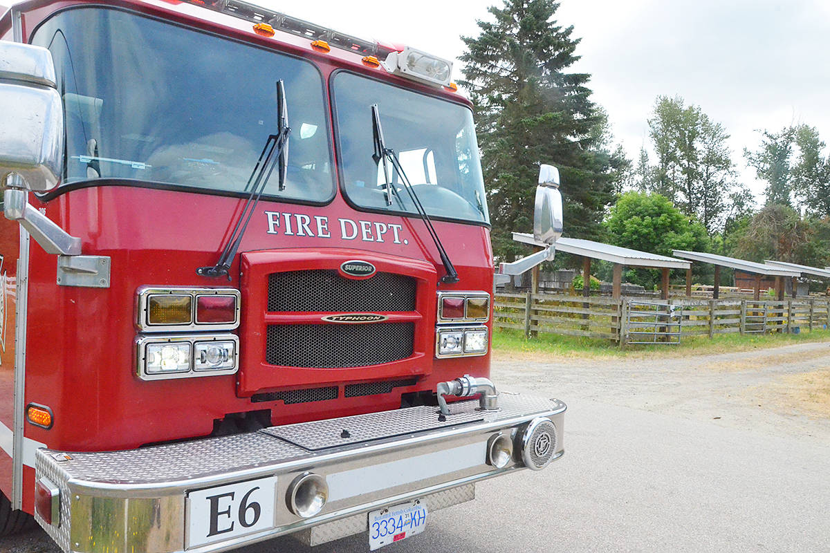 Langley firefighters are advising caution with fire and cigarettes and reminding people that backyard burning is banned as grass and brush is very dry after the recent heat wave. (Matthew Claxton/Langley Advance Times)