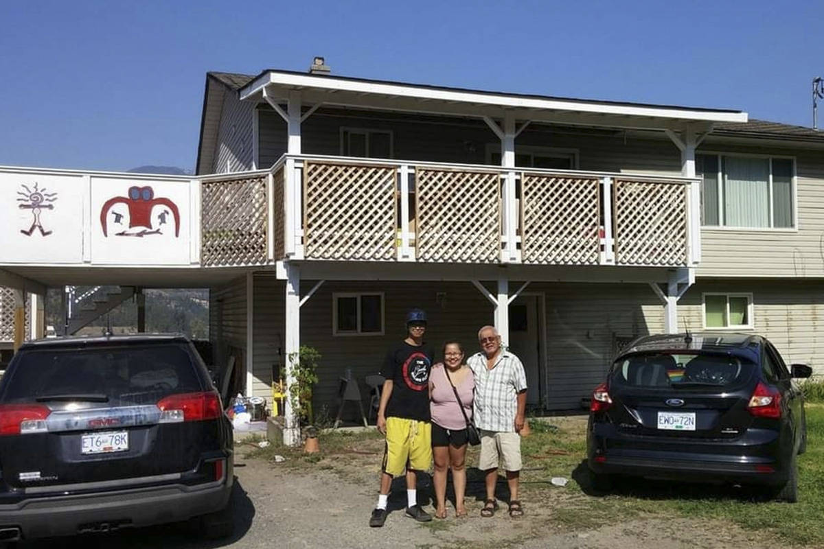 Wes Snukwa's family home in Lytton, B.C., which may have been destroyed by a wildfire on June 30, 2021. (Contributed)