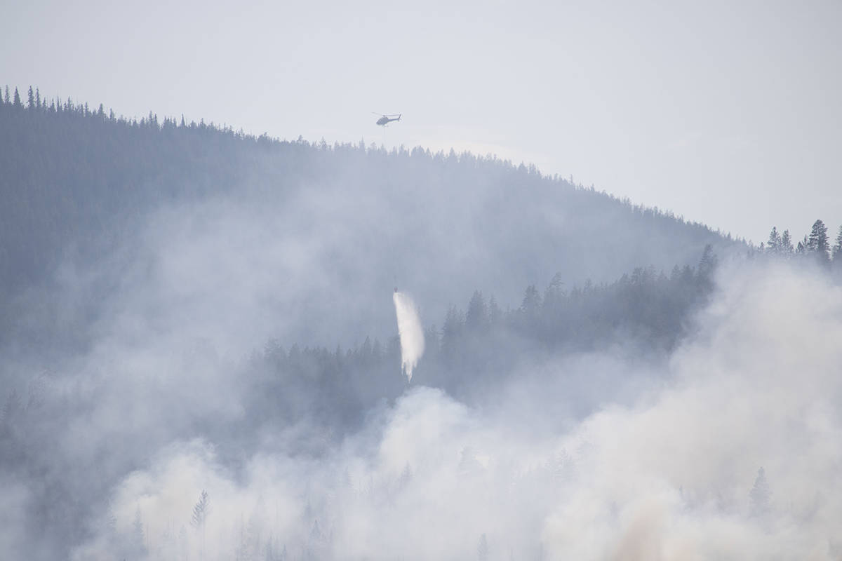 The Merry Creek Wildfire is burning near Castlegar. Photo: Rob Voykin