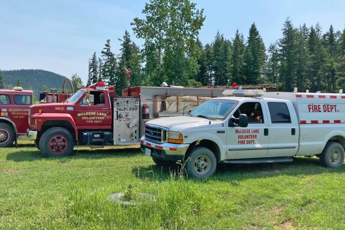 The McLeese Lake Fire Department is urging caution as dry conditions and a heat wave continue.(McLeese Lake Fire Department Facebook photo)