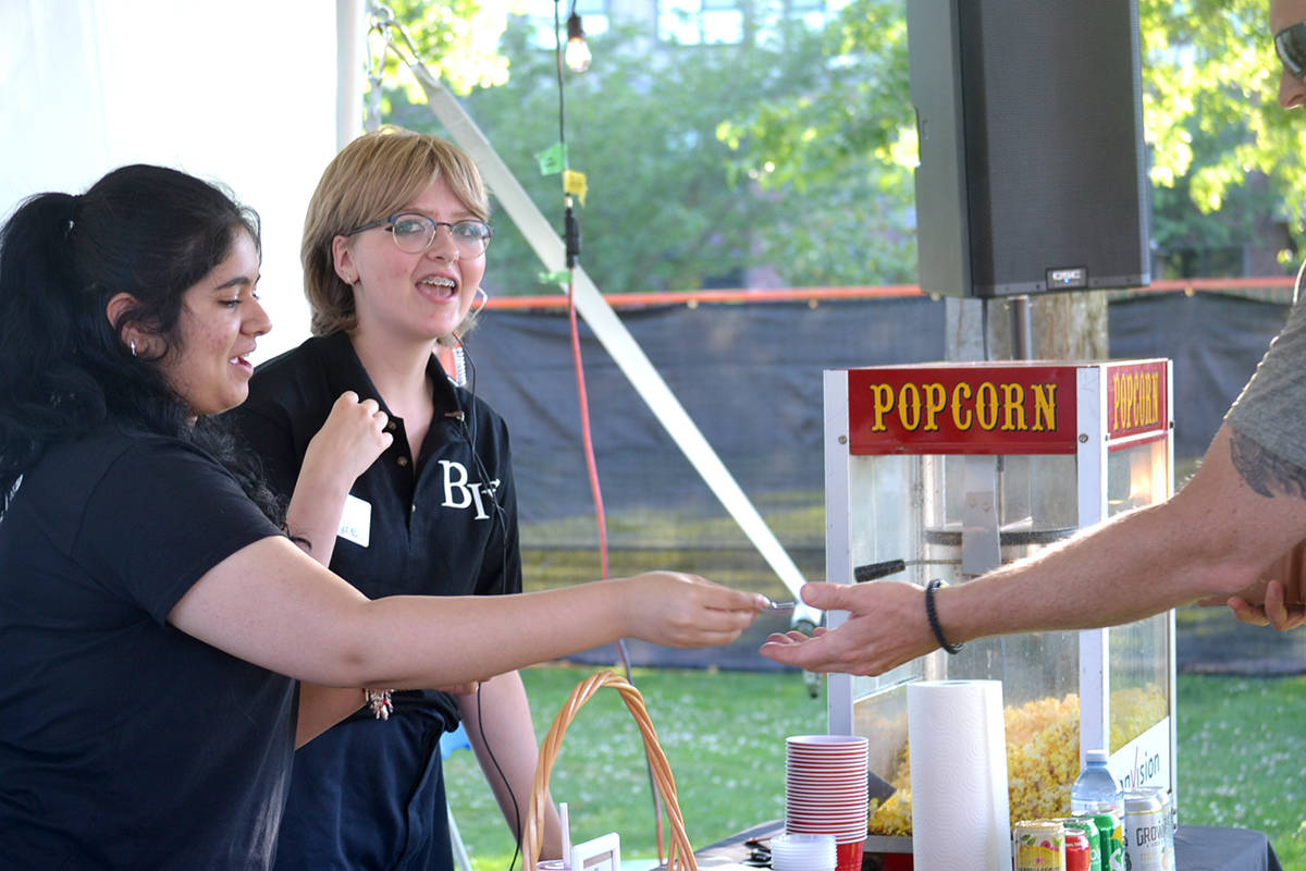 Popcorn volunteers at this year's Bard in the Valley production of <em>The Complete Works of William Shakespeare (Abridged)</em>. (Ryan Uytdewilligen/Aldergrove Star)