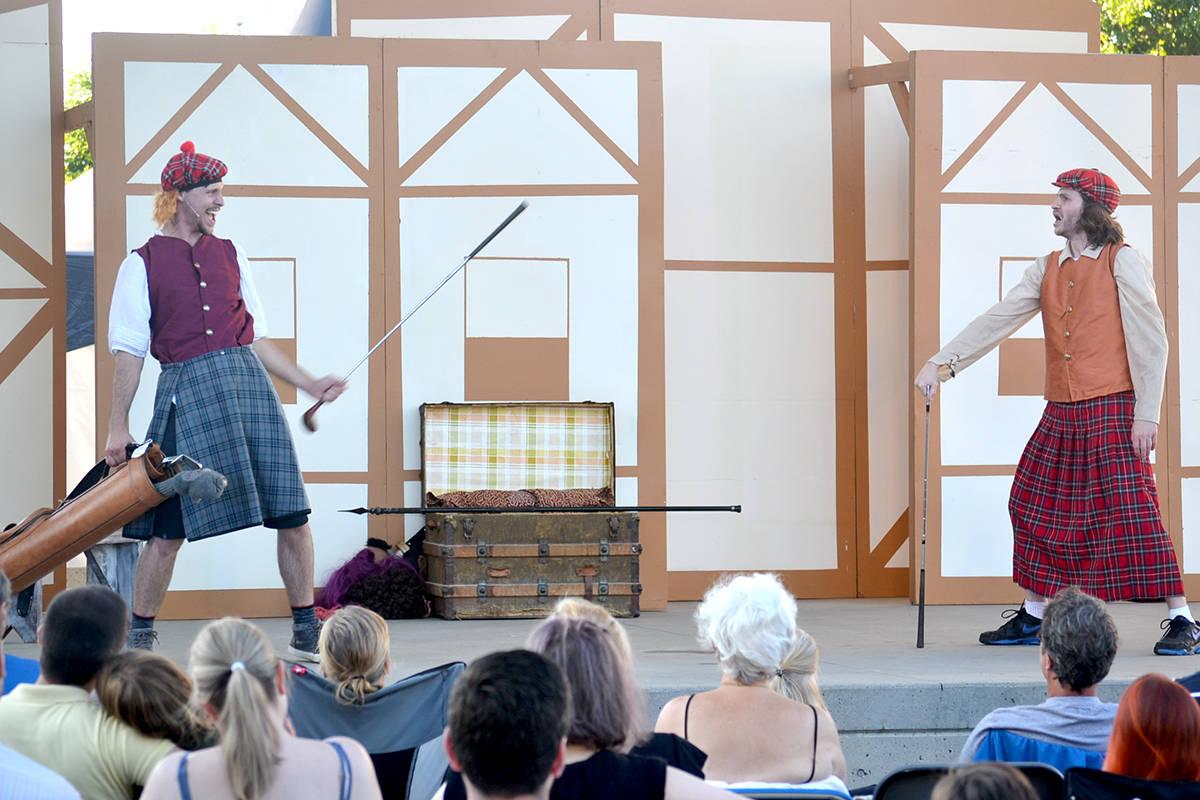 <em>The Complete Works of William Shakespeare (Abridged)</em> starring Dylan Coulter and Nik Trotzuk. (Ryan Uytdewilligen/Aldergrove Star)