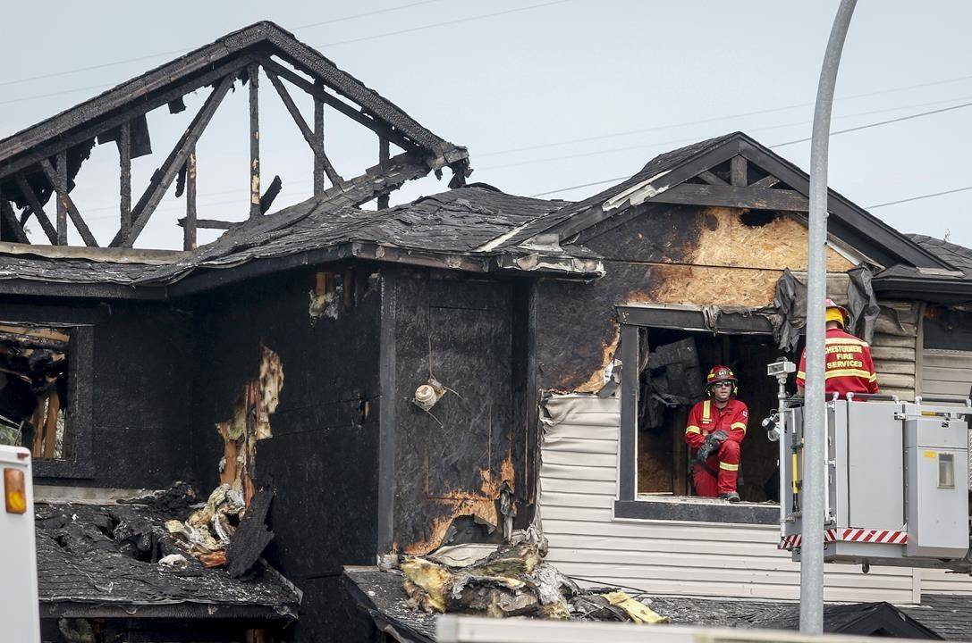 Seven people, including four children, have died in a house fire in Chestermere, Alta., just east of Calgary, Friday, July 2, 2021.THE CANADIAN PRESS/Jeff McIntosh