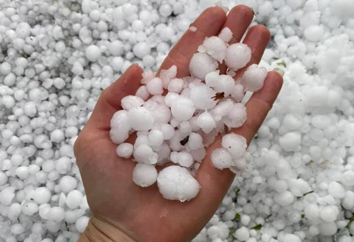 Hail storm hits Invermere July 2, 2021, amid a hasty wildfire season in the rest of B.C. (Columbia Valley Chamber of Commerce)