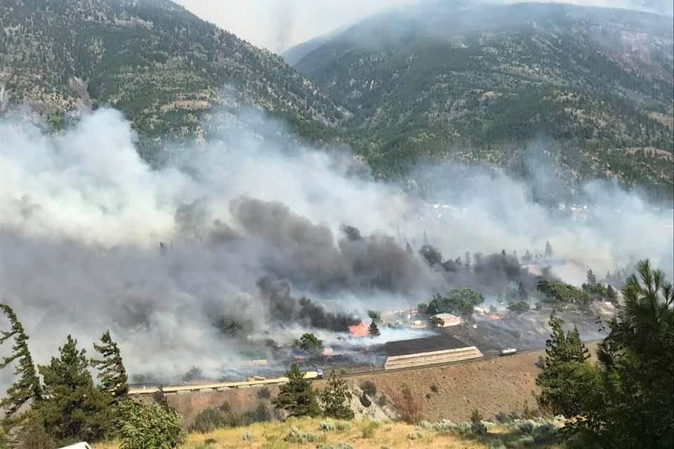 Village of Lytton on fire on June 30, 2021. (Edith Loring Kuhanga/Facebook)