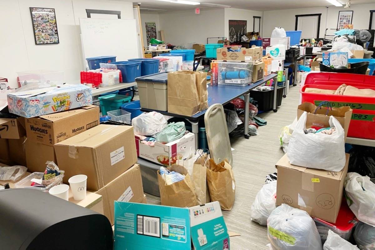Donations for the fire victims of Lytton. (Katzie First Nation/Special to the News)