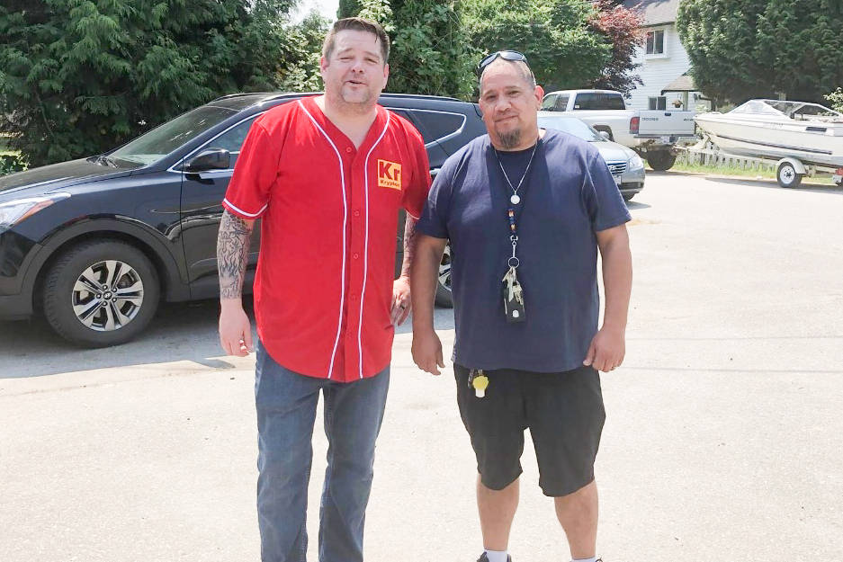 Volunteers are ready to collect donations for the victims of the Lytton fire. (Katzie First Nation/Special to The News)