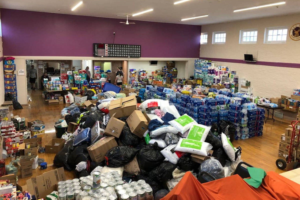 Merritt Food Bank is filled to the brim with donations of all sorts. Emergency officials are asking for financial gifts instead to help evacuees of B.C.'s wildfires. (City of Merritt Facebook)