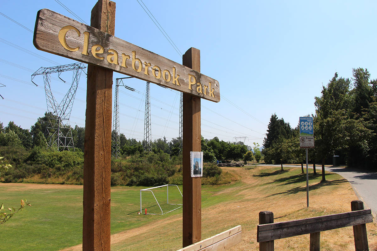 A body was found Monday morning (July 5) at Clearbrook Park in Abbotsford. (Vikki Hopes/Abbotsford News)