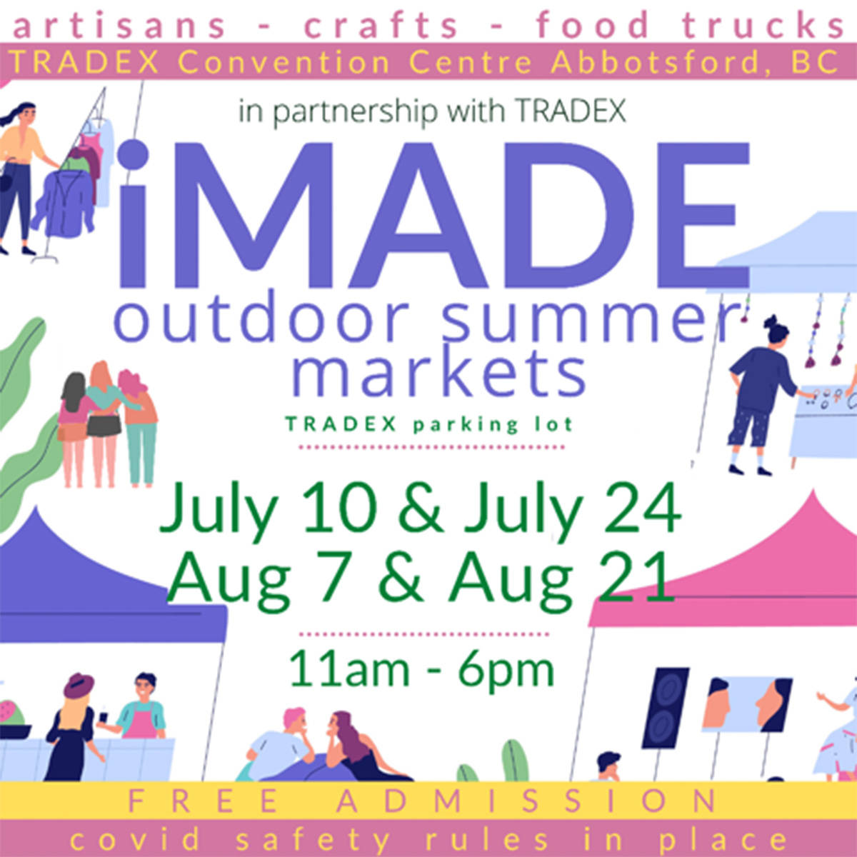 The iMADE Outdoor Summer Market debuts at Tradex on Saturday (July 10). (Submitted)
