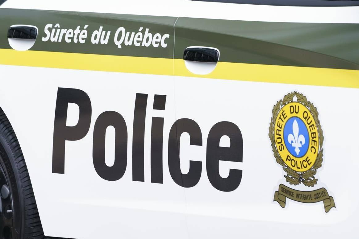 A Sûreté du Québec police car is seen in Montreal on Wednesday, July 22, 2020. THE CANADIAN PRESS/Paul Chiasson