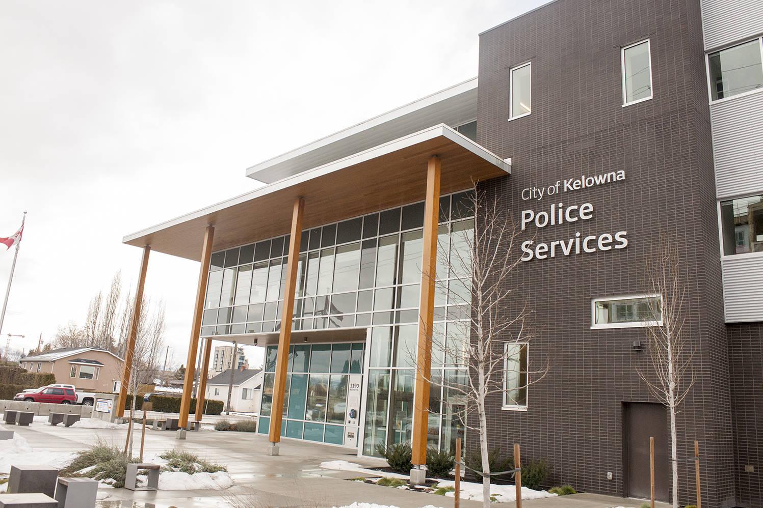 Kelowna RCMP precinct. (Michael Rodriguez/Capital News file)