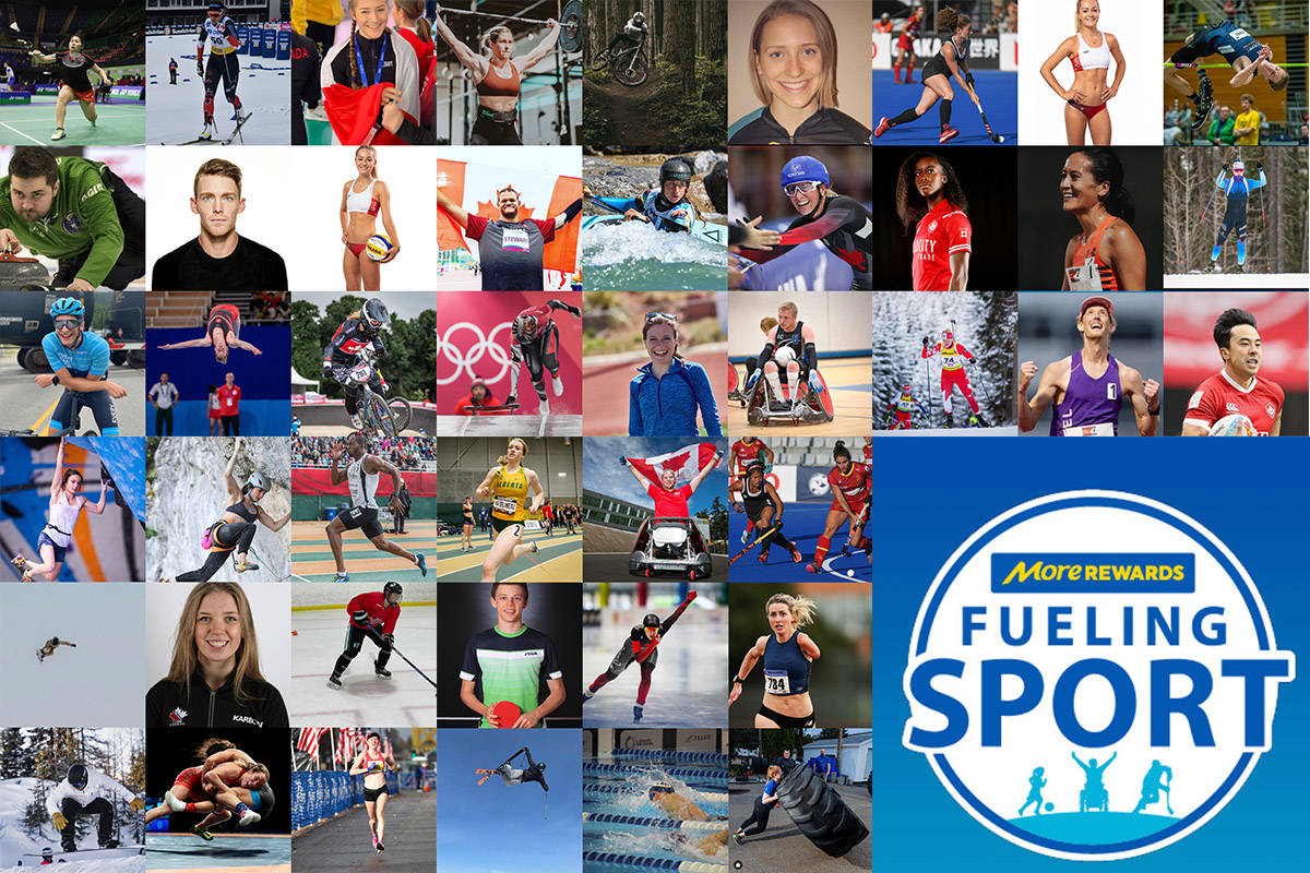 Sixty athletes selected as 2021 Save-On-Foods Fueling Sport ambassadors. (Black Press Media graphic)