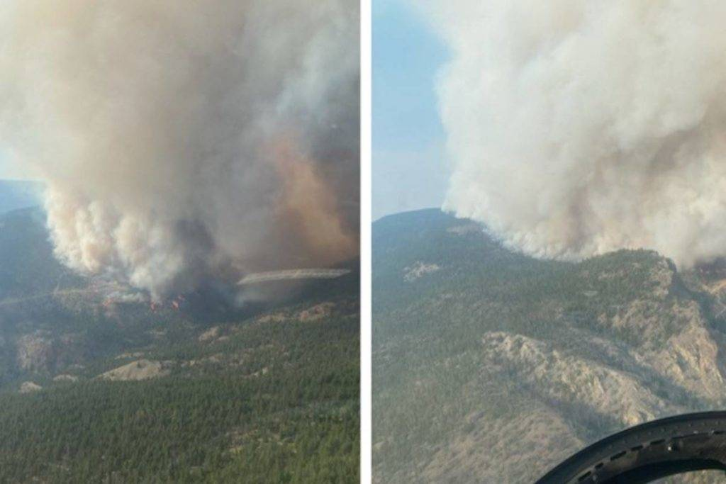 Sparks Lake wildfire, as shot by the BC Wildfire Service on July 2.