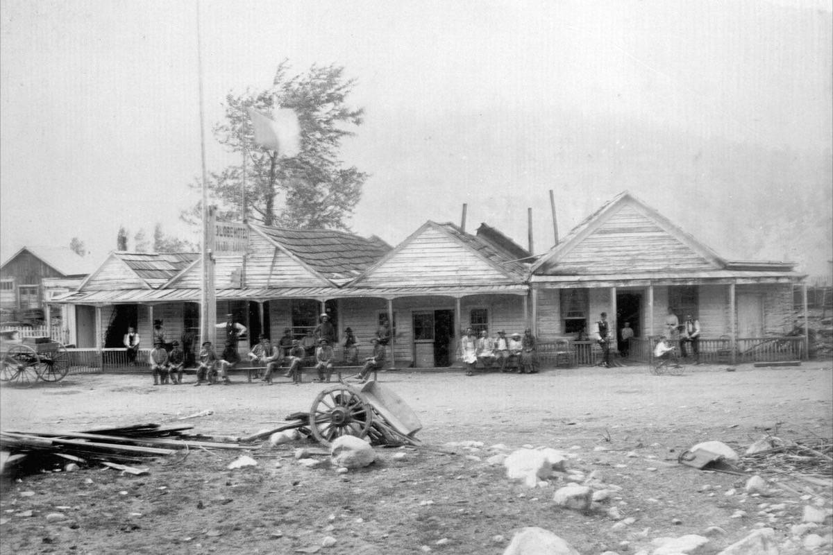 The Globe Hotel in Lytton in 1885. (Photo credit: Vancouver City Archives)