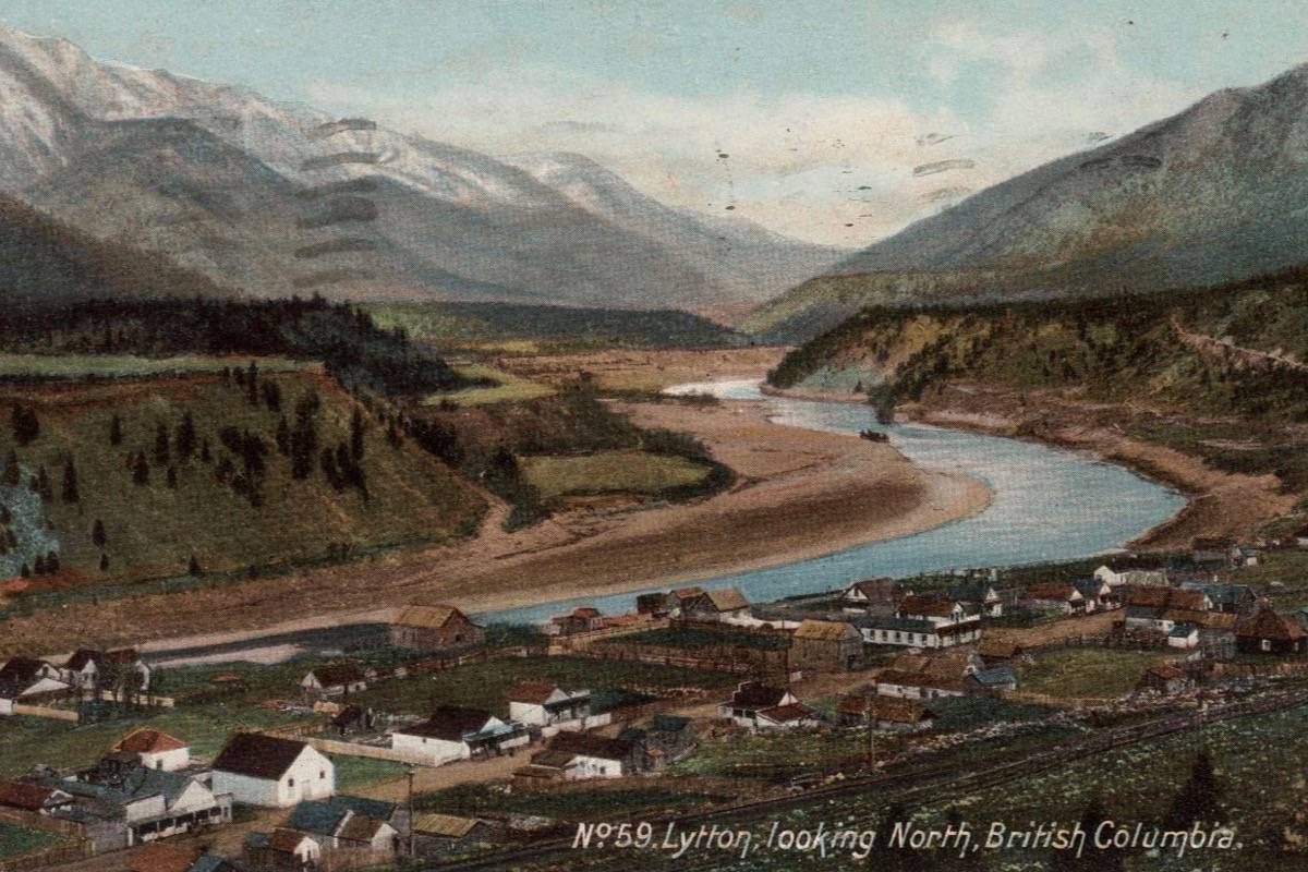 A postcard of Lytton <em>c.</em> 1907. (Photo credit: Vancouver City Archives)