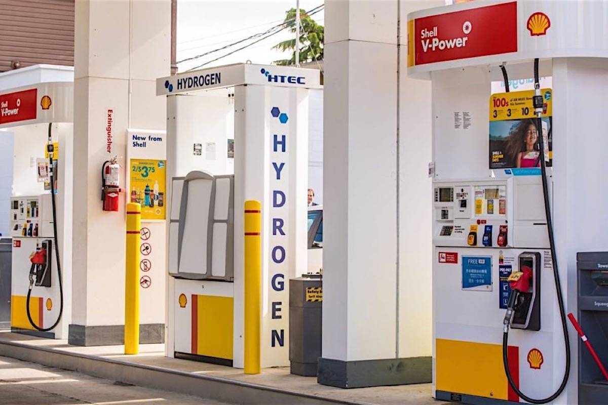 Hydrogen fuel pump in Vancouver is one of four in B.C. There were 10 stations funded by the B.C. government in 2020. (Canadian Hydrogen and Fuel Cell Association)