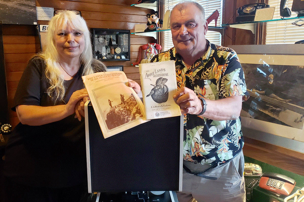 AGHS president Tami Quiring and Kurt Langmann showing off his recent donation. (Scott White/Special to The Star)