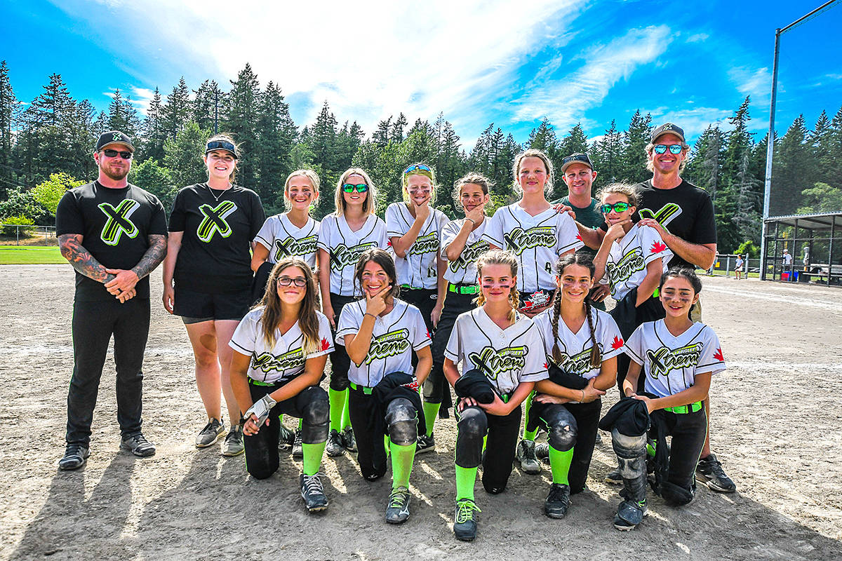 Langley Xtreme 12U softball team took second place at a weekend tournament in Cloverdale. (Special to Langley Advance Times)
